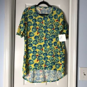 "NWT ""beauty and the beast"" lularoe Irma top"